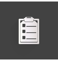 Clinical reportmedical data icon vector