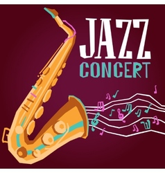 Jazz poster with saxophone vector