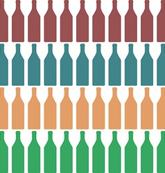Bottle silhouette color vector