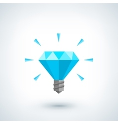 Brilliant idea concept light bulb polygonal vector