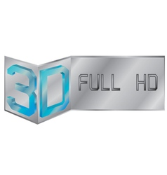 3d full hd logo vector