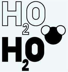 H2O symbol vector image