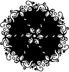 Ornate abstract silhouette vector