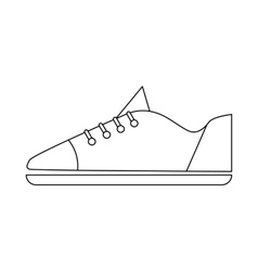 Male sneaker icon in outline style vector
