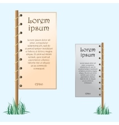 Two placards with text vector
