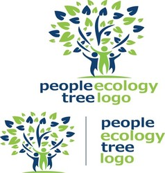 People ecology tree logo 9 vector
