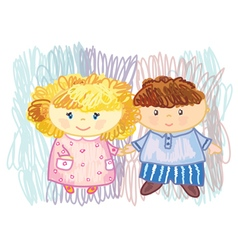 boy girl vector image vector image