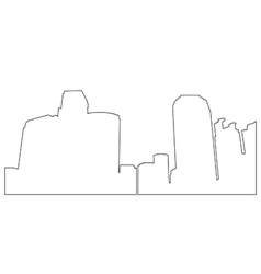 Cities Path on the white background vector image