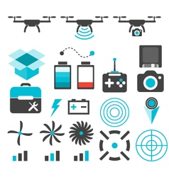 Drone camera isolated silhouette icon vector