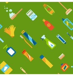 Endless flat hygiene and cleaning background vector image