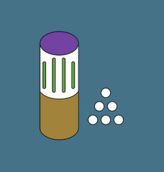 Flat icon design collection shotgun bullet vector