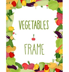 Fresh vegetables frame Healthy food vector image vector image
