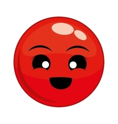 Funny cartoon face vector