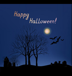 Halloween greeting card background holiday vector