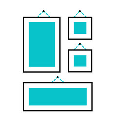 Hang or install pictures on the wall icon family vector