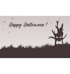 Happy halloween backgrounds tree monster vector