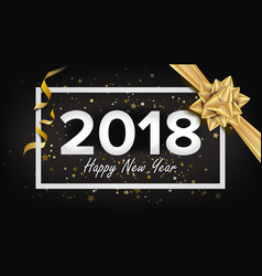 happy new year 2018 background beautiful vector image