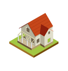 house finishing isometric 3d icon vector image vector image