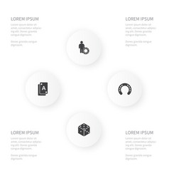 icon roulette set of investor horse dice and vector image vector image