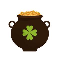 Irish pot with money vector