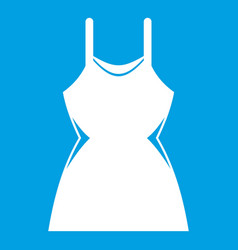 Little dress icon white vector