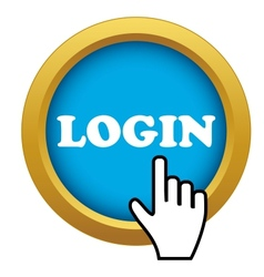 Login time icon vector