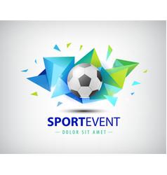 logo football championships soccer vector image