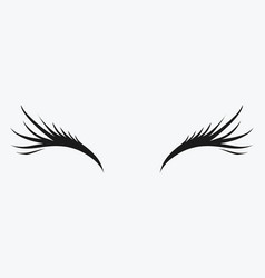 Logo of eyelashes stylized hair abstract lines vector