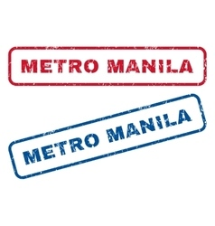Metro manila rubber stamps vector