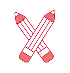 pencil school supply icon vector image
