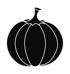 Pumpkin icon black vector
