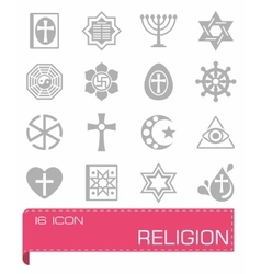 Religion icon set vector