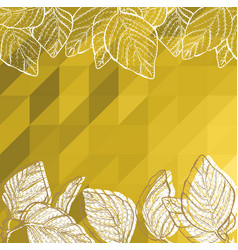 Triangle background with leaves vector