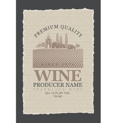 wine labels with vineyards vector image