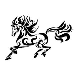 Black horse coloring vector