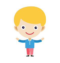 Boy portrait fun happy young expression cute vector