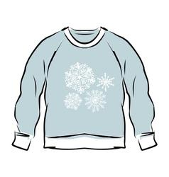 Abstract sweatshirt sketch for your design vector