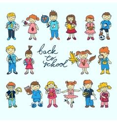Set of kids vector image