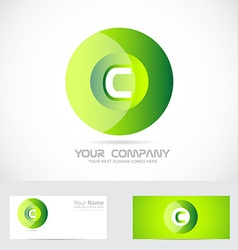 Letter c green circle logo vector