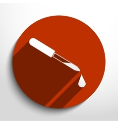 Dropper web icon vector
