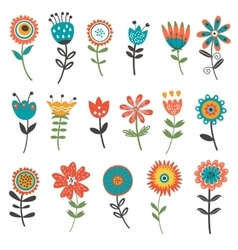 Beautiful collection of floral decorative elements vector