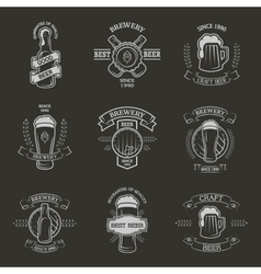 Set brewing emblems vector