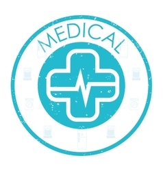 Medical and healthy lifestyle design vector