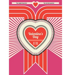 Retro valentine design vector