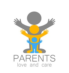 Parents love care logo vector
