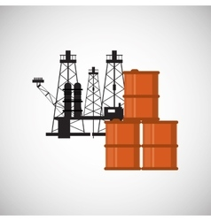 Petroleum design economy and oil industry vector