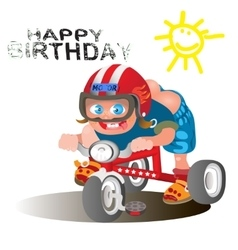 Birthday greetings for the rider vector