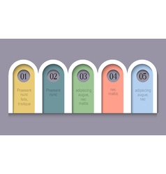 Infographic options rounded paper banners vector