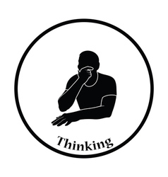 Thinking man icon vector