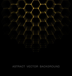 Abstract hexagon shapes background vector image vector image